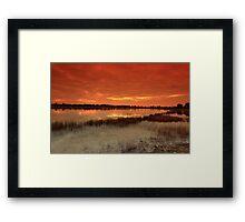 Dawn on the lake Framed Print