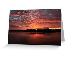 Sunrise over the wildlife refuge Greeting Card