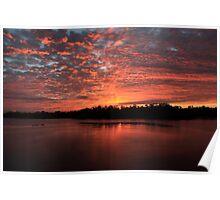 Sunrise over the wildlife refuge Poster