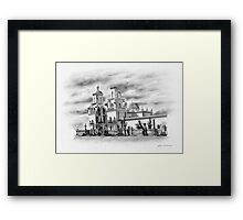 San Xavier Mission, Tucson, Az. Framed Print
