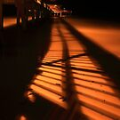 shadows of the pier by kathy s gillentine
