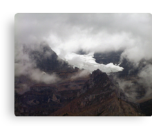 Rock,Ice and Storm Canvas Print