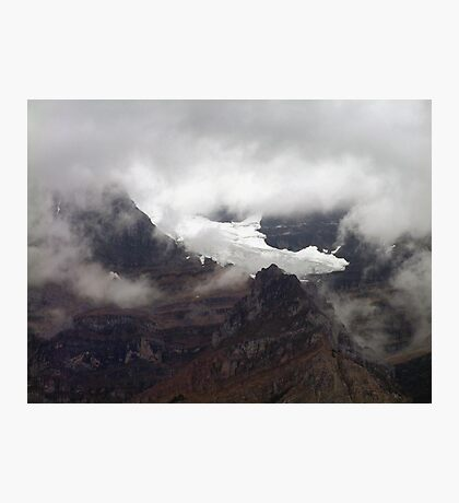 Rock,Ice and Storm Photographic Print