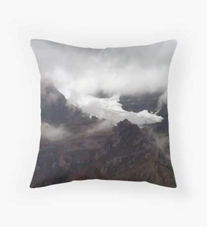 Rock,Ice and Storm Throw Pillow