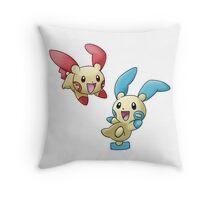 Plusle & Minun Throw Pillow