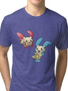 Plusle & Minun Tri-blend T-Shirt