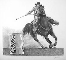 Chasin' the Can's-Rodeo Barrel Racer  by J.D. Bowman