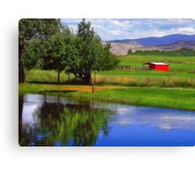 Nevada Farmlands Canvas Print