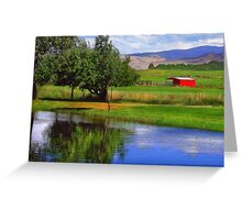 Nevada Farmlands Greeting Card