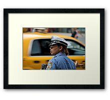 Traffic Cop Framed Print