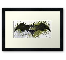 The Batman signal number eight Framed Print