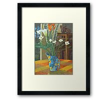 still life and the sculpture cupboard Framed Print