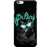 Lazy CAT art black iPhone Case/Skin