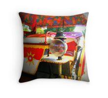 Carriage lamp...Corfu town Throw Pillow