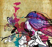 full bluebird by Narelle Craven
