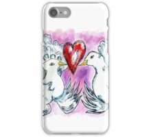 Doves and Heart iPhone Case/Skin