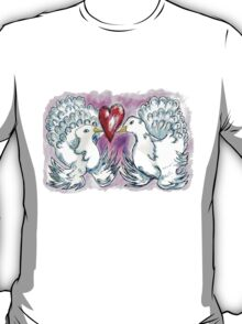 Doves and Heart T-Shirt