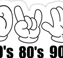 Decades (Peace, Power, Rock,Talk to the hand, Selfie,) Sticker