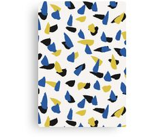 Blue, Yellow & Black Abstract Canvas Print