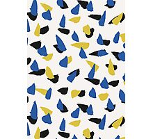 Blue, Yellow & Black Abstract Photographic Print