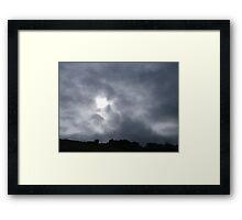 Mean sky Framed Print