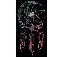 moon catcher- crescent moon dreamcatcher Photographic Print