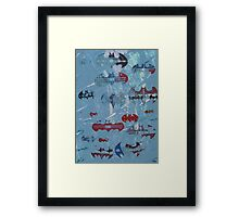 Batman footprints Framed Print