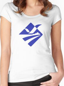 Emblem of Busan  Women's Fitted Scoop T-Shirt