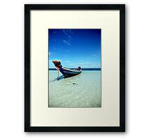 Tropical Boat Framed Print
