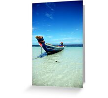 Tropical Boat Greeting Card