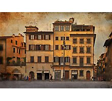In the piazza Photographic Print