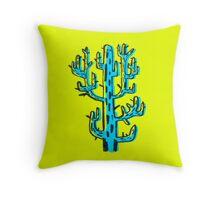 Cactus azul Throw Pillow