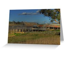 Freemantle Road Shearing Shed 002 Greeting Card