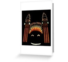 Looney Park - Luna Park at Night - Sydney - Australia Greeting Card