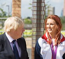 Boris Johnson MP & Jessica-Jane Applegate MBE by Keith Larby