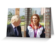 Boris Johnson MP & Jessica-Jane Applegate MBE Greeting Card