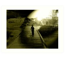 Outwards to the Future Inwards to the Past.  Art Print