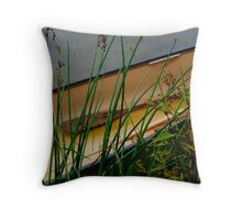 Lonley Canoe Throw Pillow