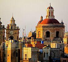 Rooftops Over Malta by Joanna Beilby