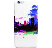 Watercolor art print of the skyline of Liverpool iPhone Case/Skin