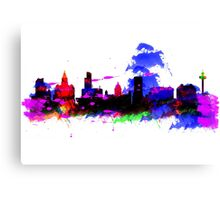 Watercolor art print of the skyline of Liverpool Canvas Print