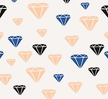 Pink, Blue & Black Diamonds by Iveta Angelova
