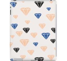 Pink, Blue & Black Diamonds iPad Case/Skin