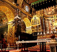 The Altar of St John, Valletta. by Joanna Beilby
