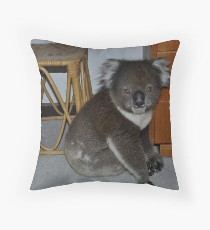A stanger in my bedroom Throw Pillow