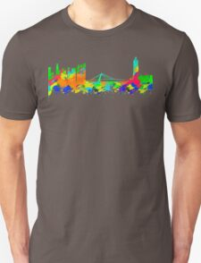 Taiwan Skyline in water colours Unisex T-Shirt