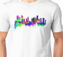 Singapore Skyline in Water Colour Unisex T-Shirt