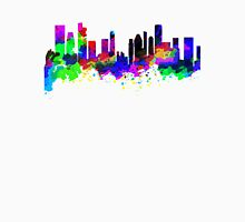 Singapore Skyline in Water Colour T-Shirt