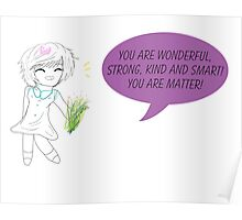 The Cute Little girl w/Motivation Words Poster