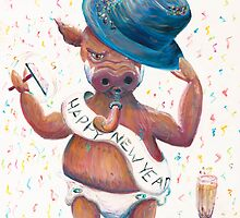 New Years Hog by Nadine Rippelmeyer